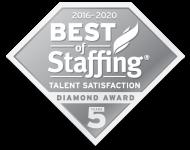 Best of Staffing: Talent Satisfaction Diamond Award